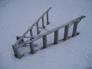 fallen ladder