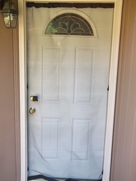 Instant screen door lets the breeze through for Screen door options