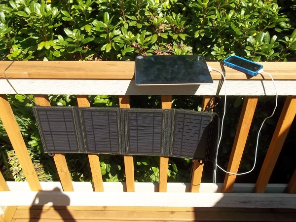 SunJack Solar Charger Being Used