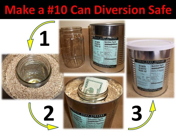 """How to Make a DIY """"Hidden"""" Coffee Can Diversion Safe"""
