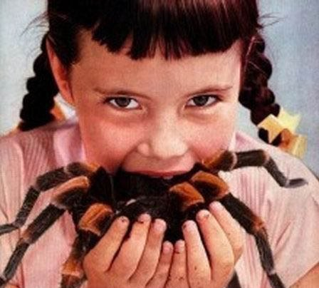 Girl Eating Spider!