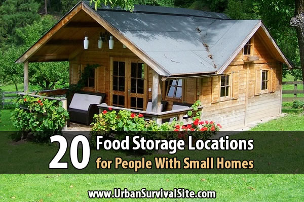 20 Extra Food Storage Spots Around The Home (link)