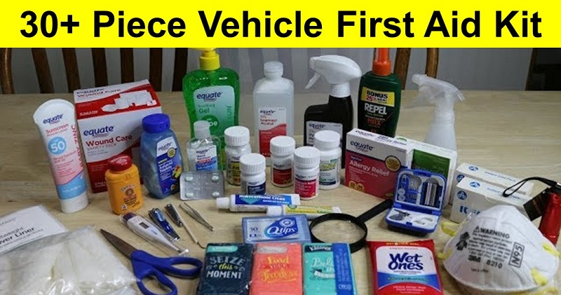 30+ Piece Vehicle First Aid Kit