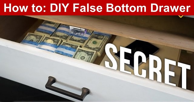 How to: DIY False Bottom Drawer