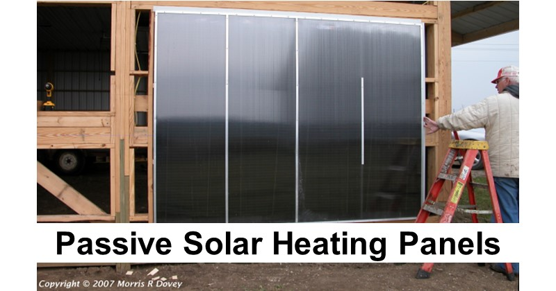 Passive Solar Heating Panels