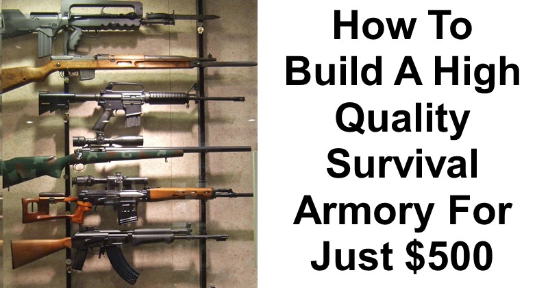 How To Build A High Quality Survival Armory For Just $500