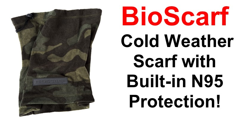 BioScarf – Cold Weather Scarf with Built-in N95 Protection
