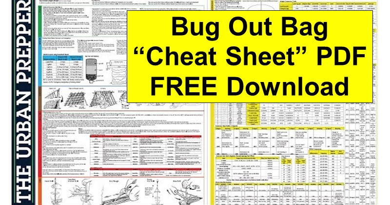 "Bug Out Survival ""Cheat Sheet"" PDF Download"