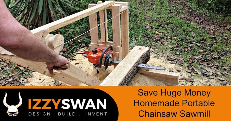 $50 DIY Chainsaw Sawmill Build
