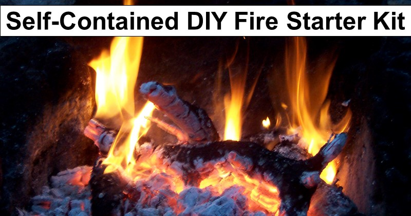 Self-Contained DIY Fire Starter Kit