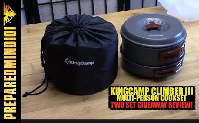 Family-Sized Backpack Cookset: KingCamp Climber 3