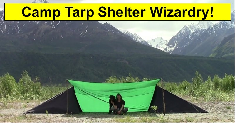 Camp Tarp Shelter Wizardry