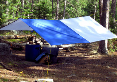 how to make a tent using a tarp